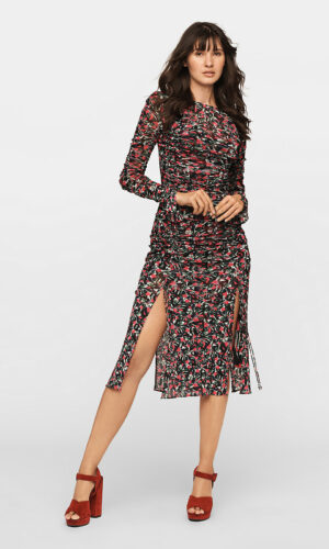 DVF Corinne Mesh Midi Dress