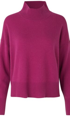 ROSEMUNDE MIXED CASHMERE PULLOVER.
