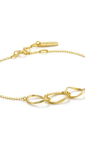 ANIA HAIE Gold Swirl Nexus Bracelet