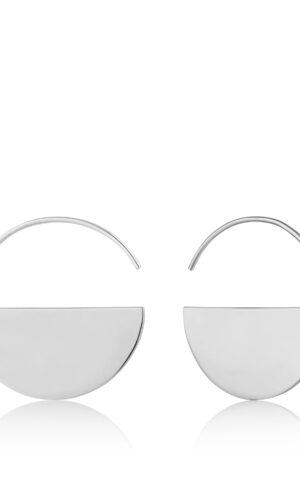ANIA HAIE Silver Geometry Hoop Earrings