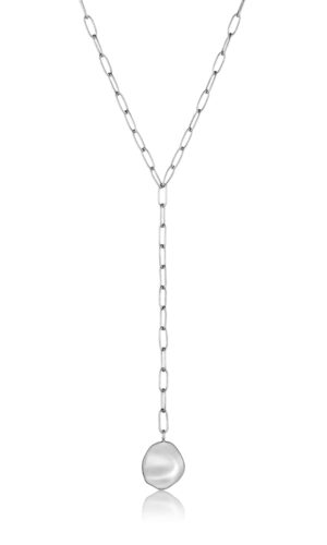 ANIA HAIE Silver Crush Disc Y Necklace