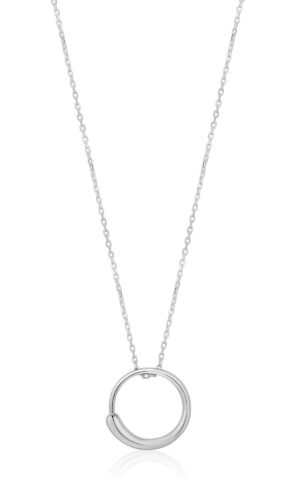 ANIA HAIE Silver Luxe Circle Necklace