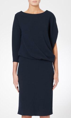 ROISIN LINNANE Drape Asymmetric Dress.