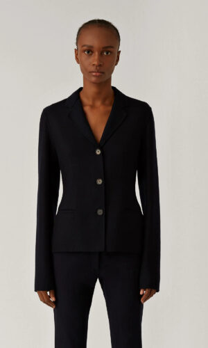 JOSEPH Jiall-Stretch Double Face Navy Jacket