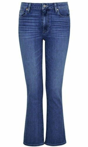 PAIGE Claudine Ankle Flare high-rise stretch-denim jeans