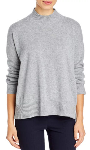 Eileen Fisher ITALIAN CASHMERE MOCK NECK SWEATER