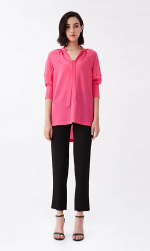 DVF Lynn Silk Crepe De Chine Top