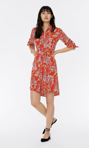 DVF Prita Silk Crepe De Chine Shirt Dress