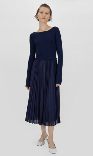 SPORTMAX PLEATED SKIRT DRESS