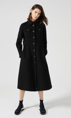 SPORTMAX CODE Double Wool Military Coat