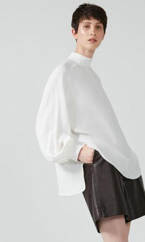 SPORTMAX CODE Silk Crepe Raglan Blouse