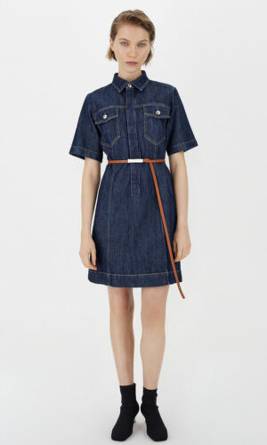SPORTMAX DENIM SHIRT DRESS