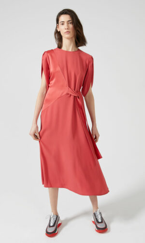 SPORTMAX CODE Tie-front Two-texture Dress
