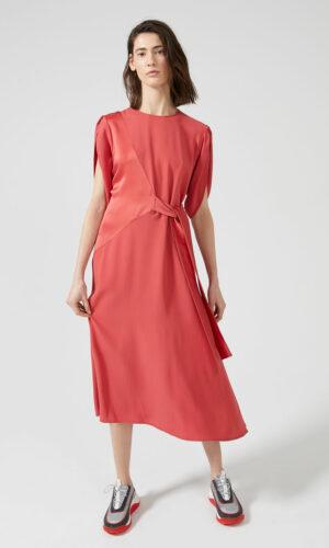 SPORTMAX CODE Tie-front Two-texture Dress