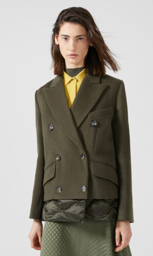 SPORTMAX CODE Transforming Wool Puffer Coat