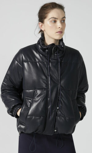 SPORTMAX CODE Eco Leather Transforming Puffer Jacket