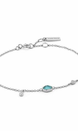 ANIA HAIE  Turquoise Discs Silver Bracelet