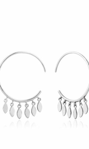ANIA HAIE Silver Multi-Drop Hoop Earrings