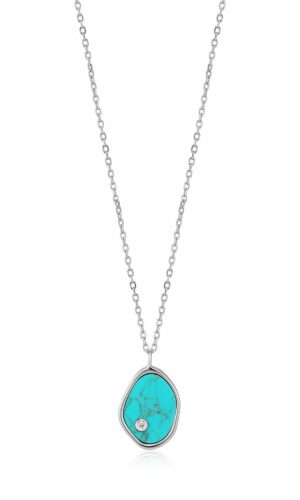 ANIA HAIE Silver Tidal Turquoise Necklace