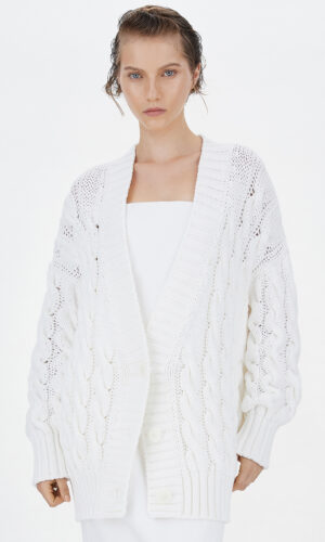 SPORTMAX Cable-knit cardigan