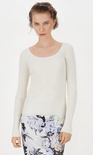SPORTMAX Slim-fit rib-knit sweater