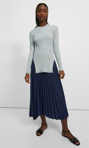 THEORY PLEATED SKIRT.