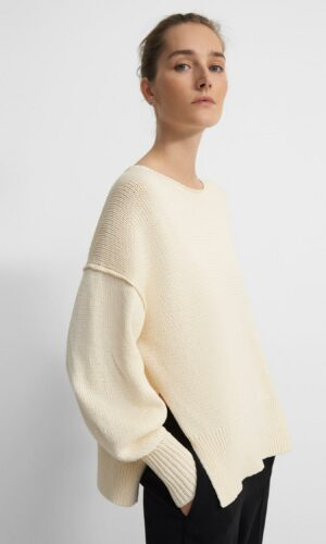 THEORY Chunky Slit Sweater.
