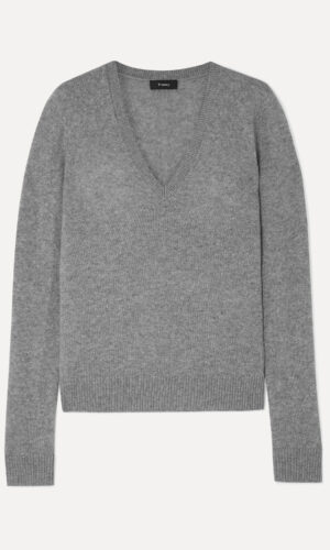 THEORY V NECK CASHMERE SWEATER