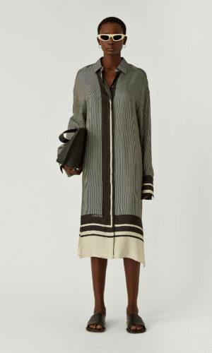 JOSEPH DURAS SCARF PRINT DRESS