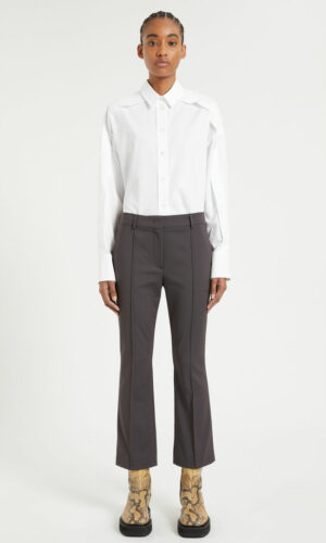 SPORTMAX RIBBED TROUSERS