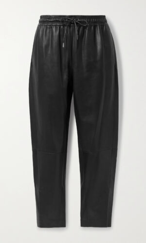 THEORY RELAXED LEATHER TROUSER